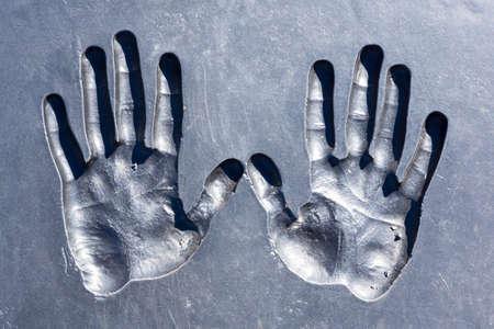handbreadth: Prints of human hands