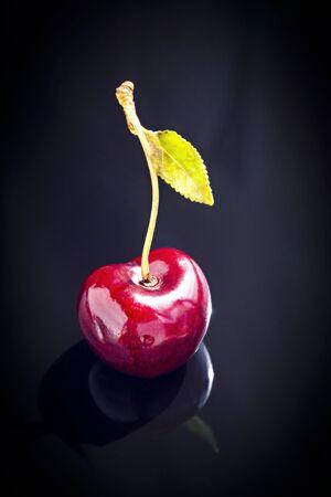 Single ripe cherry berry