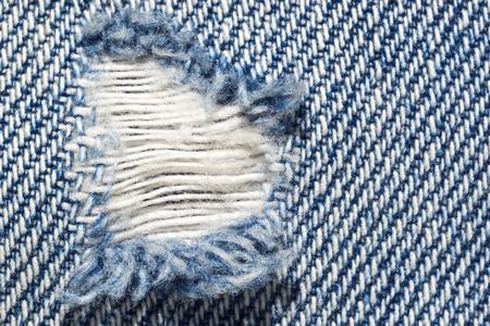 attrition: Hole attrition in denim texture