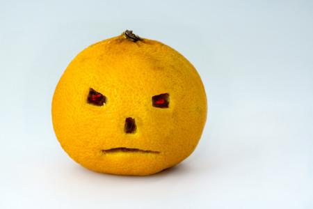 Halloween pumpkin style tangerine 版權商用圖片