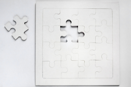 The last piece of the puzzle Stock Photo