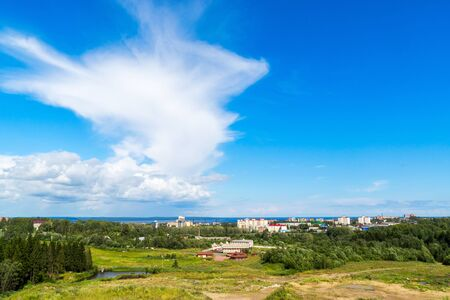 View of Petrozavodsk city in summer