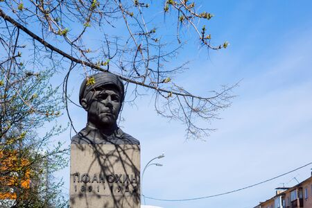 Bust to Peter Fedorovich Anokhin in Petrozavodsk