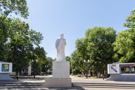 Monument to VI Lenin in Yeisk Stock Photo