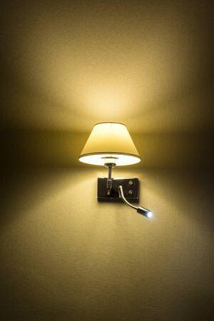 Night lamp on wall Stock Photo