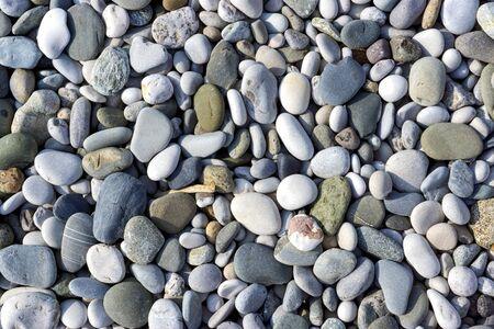 Sea pebbles pattern Stock Photo