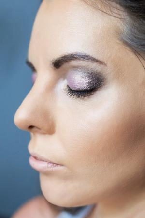 Girl face with makeup