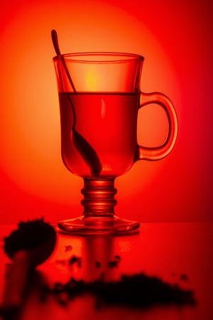 Concept still life tea in a glass