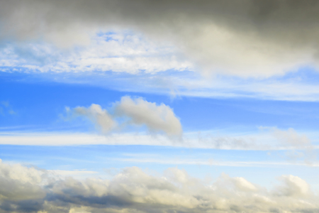 Cloudy frame in blue sky Stock Photo