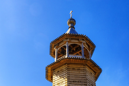 Wooden bell tower of the orthodox church