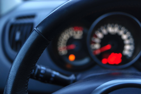 Bokeh and dashboard and steering wheel
