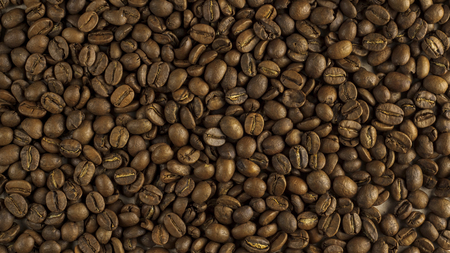 Natural background of roasted coffee beans