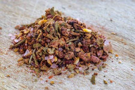 Aromatic adjika seasoning for meat and fish dishes