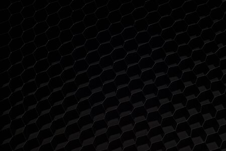 The dark background of hexagonal honeycomb shape