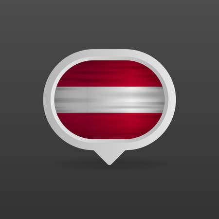 Austria flag realistic flag. Made in Austria. Vector illustration.