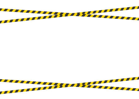 Warning tape isolated on white background. Your text here. Vector.