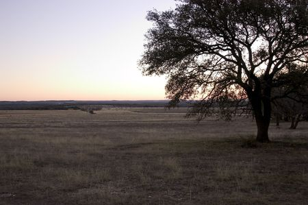 Open range land in the Texas hillcountry Stock Photo - 6372708