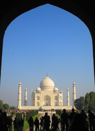 spellbinding: Taj Mahal framed by the arch of the southern gate