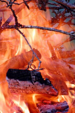 Intense closeup of fire Stock Photo