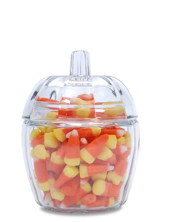 candy corn, jar Banco de Imagens