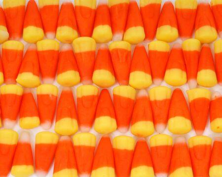 candy corn row Banco de Imagens