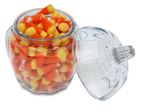 outlined opened candy corn