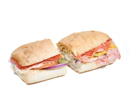 whole sandwich Stock Photo