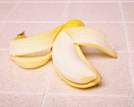 peeled banana Фото со стока