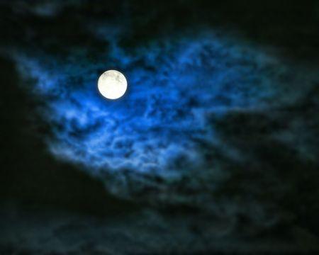 spooky moon Фото со стока