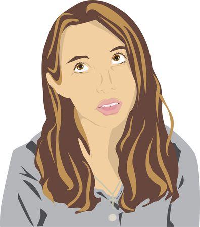 verveelde tiener illustratie Stockfoto