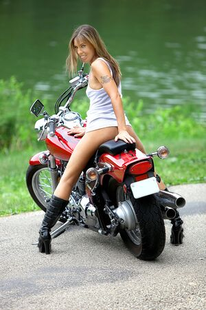 motorcycle babe images  Biker Babe Stock Photo, Picture And Royalty Free Image. Image 7556471.
