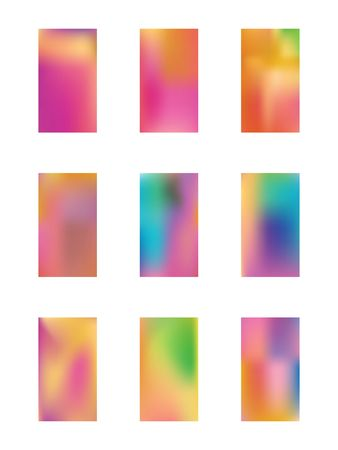 A good selection of backgrounds. Illustration, blend. Usefull hi-res and fresh. Multicolored color. Colorful selection of backgrounds. Vektoros illusztráció
