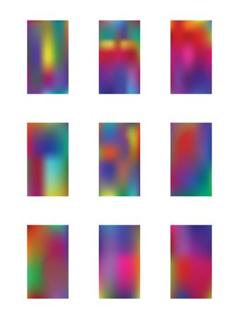 Set of light backgrounds. Illustration, modern. Creative hi-res and fresh. Multicolored color. Colorful new light.