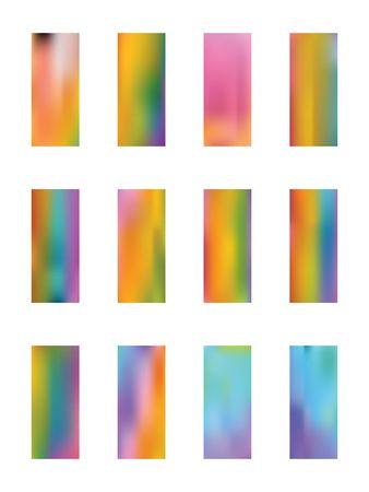 Set of light backgrounds. Usefull hi-res and fresh. Illustration, blur. Fancy color. Colorful new light.