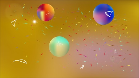 Super star themed background. Illustration, graphic. Minimal hi-res and fresh. Stars, planets, signs. Colorful universe space background theme. Vektoros illusztráció