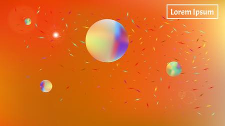 A good space background. Illustration, mesh. Creative hi-res and fresh. Stars, planets, signs. Colorful universe selected stars background.