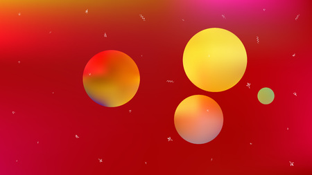 A space themed background illustration. Colorful hi-res and fresh. Illustration, light. Stars, planets, signs. Colorful universe new space background.