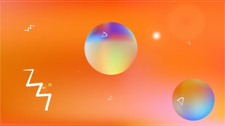 Colored space background. Illustration, graphic. Minimal hi-res and fresh. Stars, planets, signs. Colorful universe new space background. Ilustração