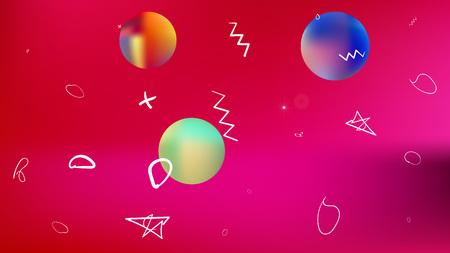 The good space themed background illustration. Usefull hi-res and fresh. Illustration, colorful. Stars, planets, signs. Colorful universe new stars design. Ilustração