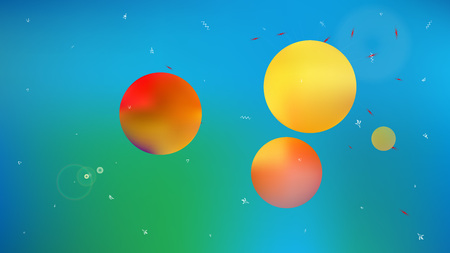 Planet and signs background. Illustration, colorful. Professional hi-res and fresh. Stars, planets, signs. Colorful universe new stars light.