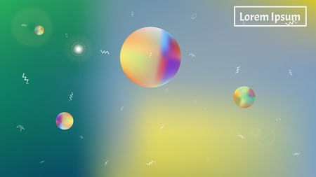 The good space themed background illustration. Liquid hi-res and fresh. Illustration, smooth. Stars, planets, signs. Colorful universe new stars design.