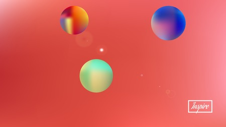 Clear space fantasy. Background texture, blend. Minimal colorific illustration.  Coral colored background.  Pristine colorful new abstraction. Colorful good background theme. 向量圖像