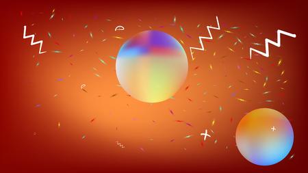 Genial fantasía espacial. Textura de fondo, luz. Ilustración colorífica líquida. Fondo de color rojo. Nueva abstracción colorida nueva. Textura de fondo de estrellas nuevas del universo colorido.