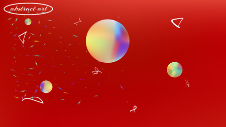 Crisp space fantasy. Background texture, mesh. Elementary colorific illustration. Red colored background. Cool colorful new abstraction. Colorful universe new texture light.