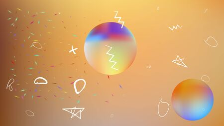 Clean space fantasy. Plain colorific illustration.  Background texture, light. Gold colored.  Pristine colorful new abstraction. Colorful universe new stars background texture.