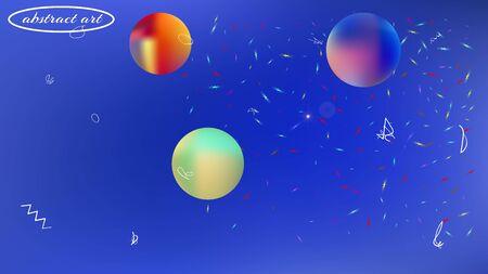 Pristine space fantasy. Professional colorific illustration.  Background texture, light. Azure colored background.  Pristine colorful new abstraction. Colorful new space pattern.
