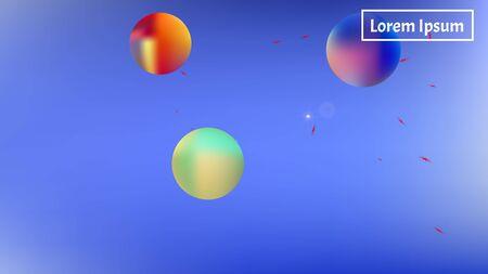 Crisp space fantasy. Background texture, light. Usefull colorific illustration.  Azure colored background.  Pristine colorful new abstraction. Colorful new background cosmos abstraction.