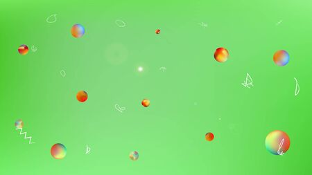Clean space fantasy. Funny colorific illustration.  Background texture, blur. Lime colored background.  Pristine colorful new abstraction. Colorful selected stars background. Illustration
