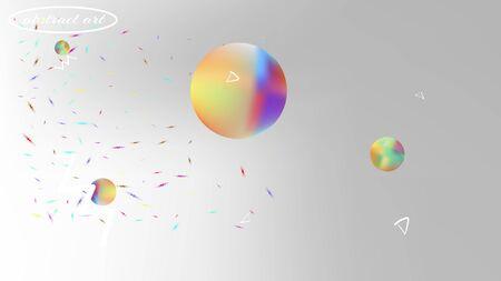 Breezy space fantasy. Plain colorific illustration.  Background texture, unused. White neutral background.  Pristine colorful new abstraction. Colorful good background theme. Illustration