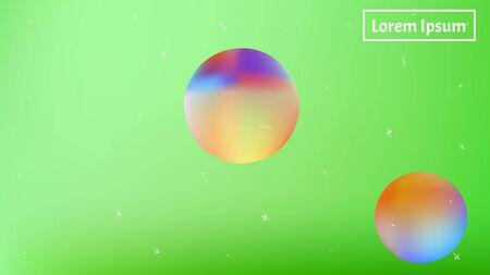 Pristine space fantasy. Background texture, unused. Common colorific illustration.  Lime colored background.  Pristine colorful new abstraction. Colorful new background cosmos abstraction.